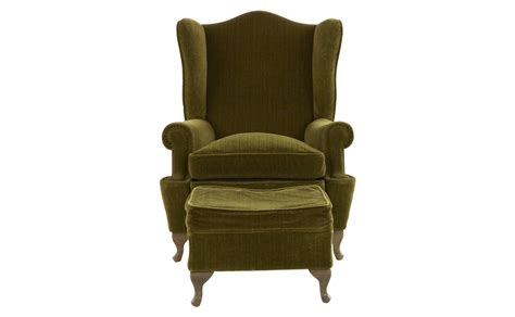 vintage wing chair and ottoman jayson home