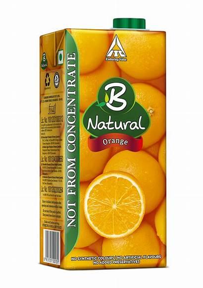 Orange Natural Bnatural Beverages Pack Mango