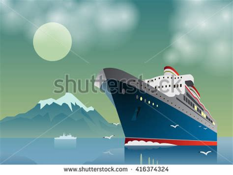 Art Deco Boat Poster by Ocean Liner Stock Images Royalty Free Images Vectors