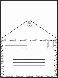 spring friendly letter fun envelope with the 5 parts of With half letter envelope