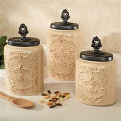 ceramic kitchen canisters sets fioritura ceramic kitchen canister set