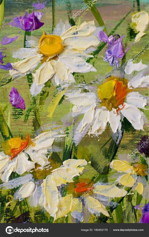 im 225 genes flores impresionistas oleo original pintura 211 leo flores margaritas blancas flores