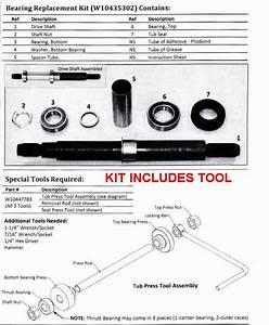 W10435302kit Whirlpool Cabrio Washer Tub Bearing Repair