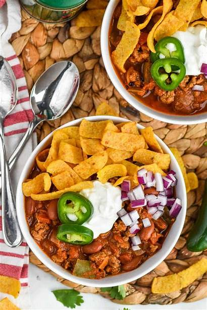 Chili Turkey Healthy Toppings Bowl Calories Recipe