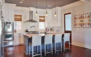 Bell jar pendnats transitional kitchen look linger love for Kitchen colors with white cabinets with bell wall art