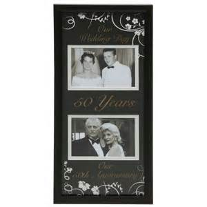 wedding anniversary photo frames moments now and then picture frame 50th wedding anniversary iwoot