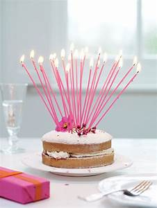 Birthday Cake Hack - Using tall candles to make a birthday ...