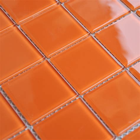 wholesale orange glass mosaic tiles kitchen