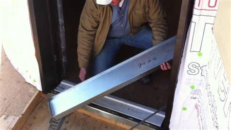 diy sliding barn door waterproofing the door threshold