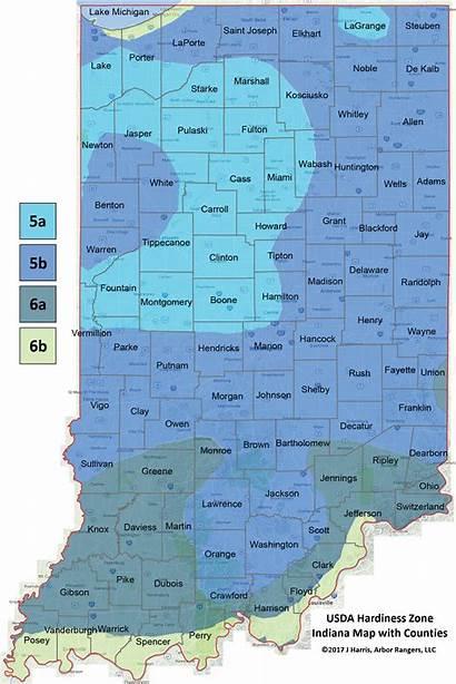 Zone Hardiness Usda Map Indiana Plant Counties