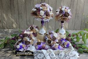 Burlap And Purple Wedding