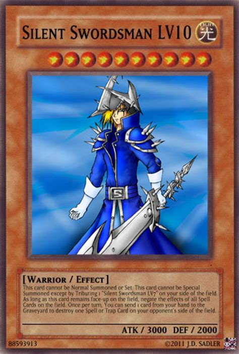 Silent Swordsman Deck 2010 by Silent Swordsman Lv10 By Bladedge On Deviantart