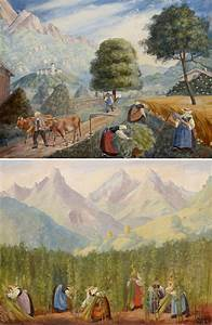 Gemälde Verkaufen Online : zwei gem lde ernteszenen in tirol von elisabeth voigt ~ A.2002-acura-tl-radio.info Haus und Dekorationen