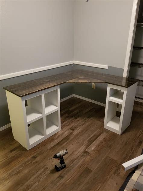 finished  computer desk build   mom