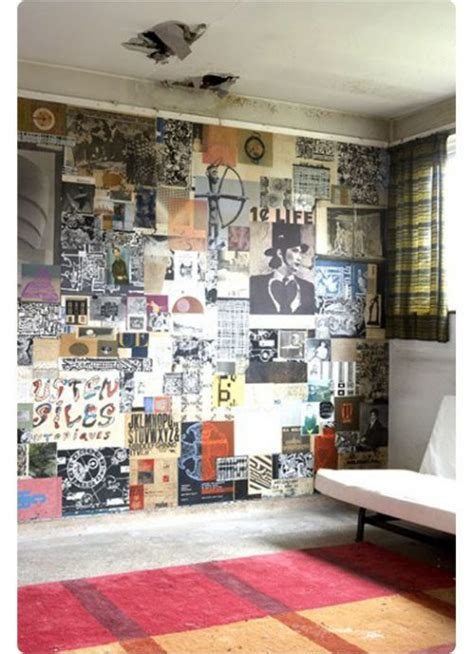 Diy Poster Wallpaper Like This Idea For One Wall In A