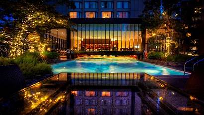 Vancouver Seasons Four Hotel Pool Night Swimming