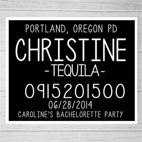 printable bachelorette party mugshot signs customized