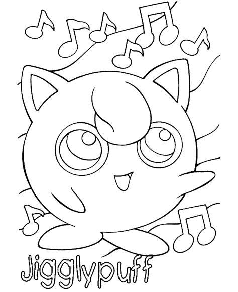 Jiggly Puff Kleurplaat by Kleurplaten Jigglypuff