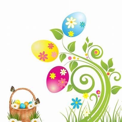 Easter Border Clipart Basket Egg Clip Flowers