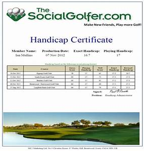 thesocialgolfercom With free golf handicap certificate template