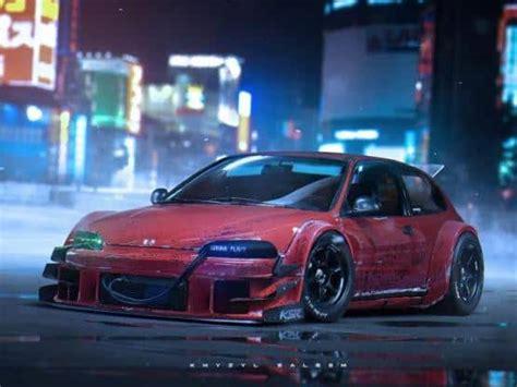 top  cyberpunk car renders designed  concept artist