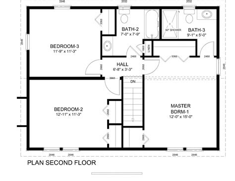 colonial homes floor plans colonial style house plan 4 beds 250 baths 2748 sqft plan 530 4 colonial floor plans colonial