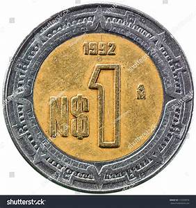 Mexican New Peso 1 Peso 1992 Stock Photo 113529076