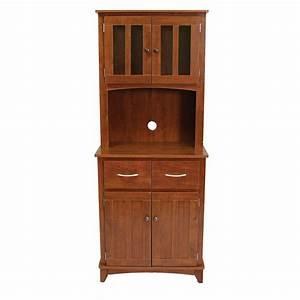 Oak Tall Microwave Cabinet 873353000979 Bellacor
