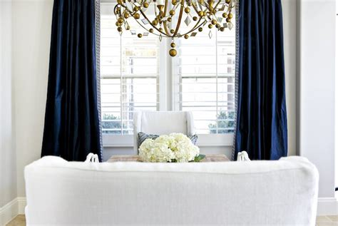 navy drapes transitional dining room benjamin moore