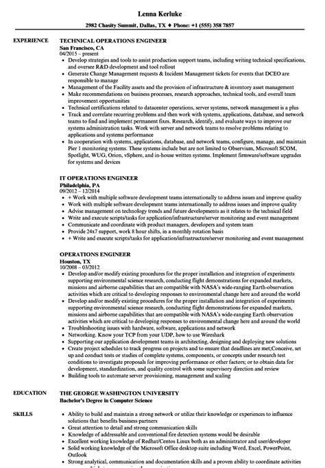 Operating Resume by Operating Engineer Resume Resume Ideas