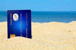 Credit card on the beach - The Money Doctor
