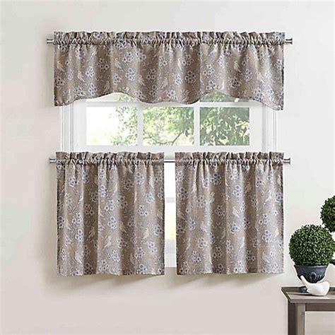 blue bird rod pocket window curtain tier pair  blue
