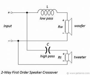 2 Way First Order Speaker Crossover Calculator