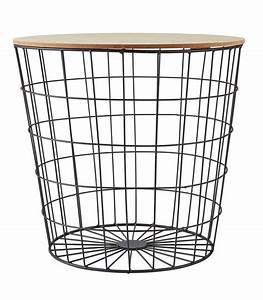 Table d39appoint bout de canape metal noir et bois for Tapis de yoga avec bout de canapé panier