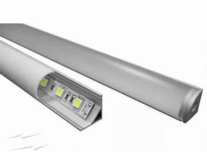 Led Strip Profil : alp006 2m aluminium corner profile track for led strip lights 45 degree track with diffuser ~ Buech-reservation.com Haus und Dekorationen