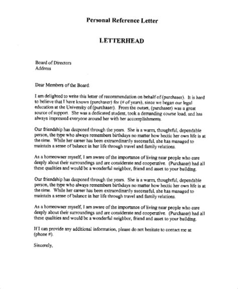 personal recommendation letter template simple and easy to use personal reference letter exles to inspire you vatansun