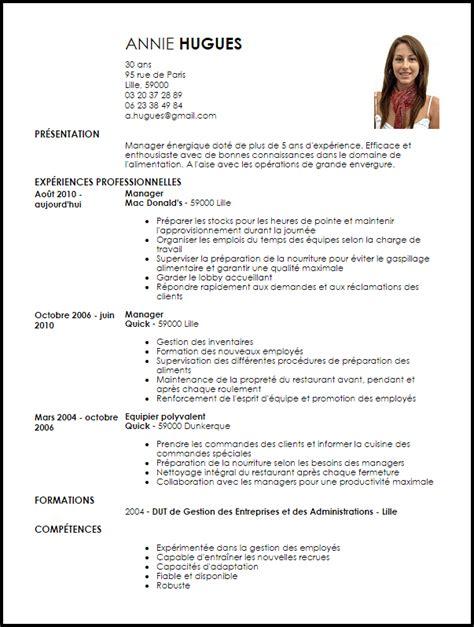Manager Cv by Exemple De Cv Manager D 201 Quipe Exemples Mod 232 Les De Cv