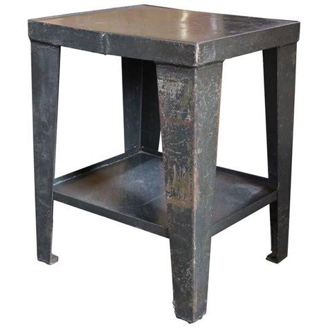 rustic industrial table l vintage industrial rustic steel and metal end side table