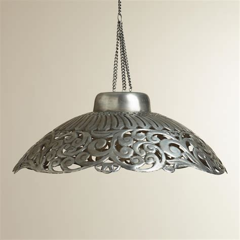 zinc metal pendant l world market