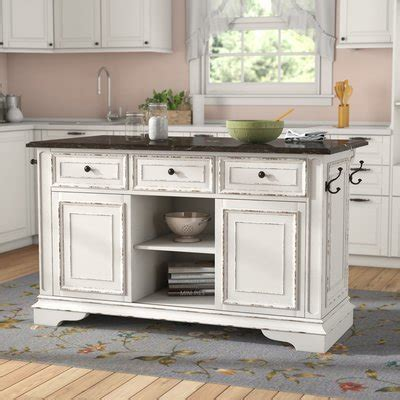 farmhouse rustic kitchen islands birch lane
