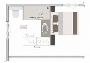 j39aime cette photo sur decofr et vous salle de With plan chambre avec salle de bain et dressing
