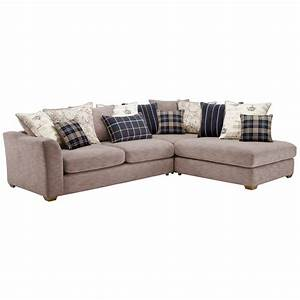 florence left hand corner sofa with pillow back silver With couch florence sofa