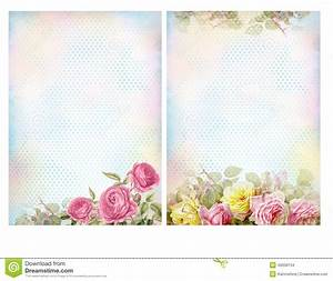 Shabby Chic Backgrounds With Roses. Stock Illustration ...
