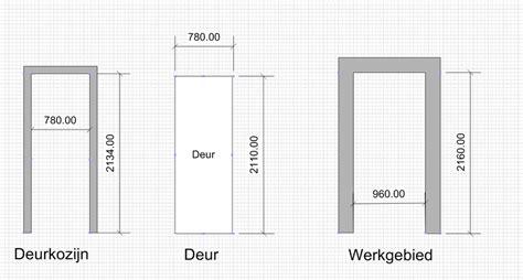 plaatsen deurkozijn en afhangen bestaande bruynzeel deur