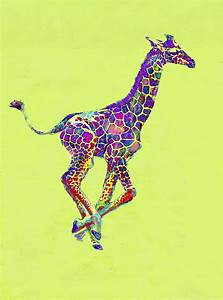 The gallery for --> Colorful Giraffe Paintings