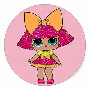 Lol Surprise  Dolls Glitter Queen Classic Round Sticker
