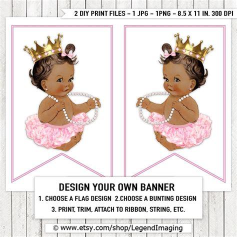 pink ballerina princess tutu pearl baby shower banner