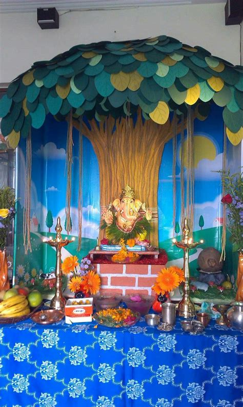 Ganapati Decoration Ideas - 107 best images about pooja mandir on temples