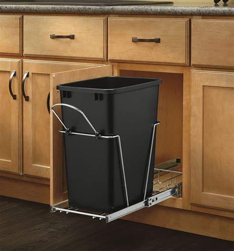 rev  shelf pull  trash  garbage bin waste container