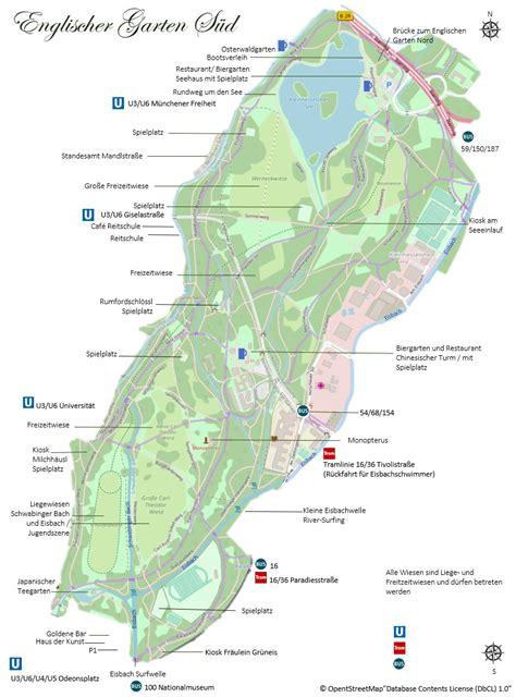 Englischer Garten Munchen Tickets by Pl 228 Tze Parks Sehensw 252 Rdigkeiten M 252 Nchen